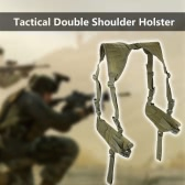 Tactical Double Horizontal Shoulder Holster Universal Military Adjustable Under Arm Double Carrier Holder