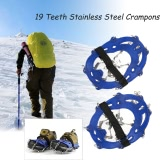 19 Teeth Stainless Steel Crampons Nylon Strap Non-slip Shoes Cover Outdoor Ski Ice Snow Device Hiking