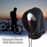 SAHOO Thermal Warm Fleece Full Face Mask Head and Neck Cover Warmer Windproof Hooded Hat for Winter Outdoor Sports Cycling Motorcycle Bike Ski Snowboard Fishing