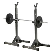 Pair of Adjustable Standard Solid Steel Squat Stands Detachable Barbell Stands for Fitness Exercise Squat Rack 137 - 167cm