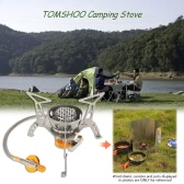 ​TOMSHOO Windproof Compact Camping Stove Foldable Burner Butane Outdoor Camp Infrared Heating Stove Hiking Backpacking with Piezo Ignition