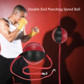 Double End Punching Speed Ball Striking Punching Ball Solid Leather Sporting MMA Boxing Training Gear