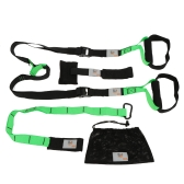 Green Fitness Band Hanging Belt Tension Pull Rope Home Exerciser Training Fitness Equipment Resistance Set