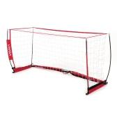 Lixada Soccer Goal Detachable Portable Soccer Net Sturdy Frame Fiberglass Pole for Playground Backyard Training