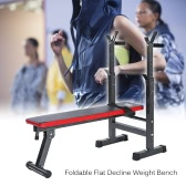 TOMSHOO Adjustable Abdominal AB Bench Crunch Sit Up Training Gym Weight Lifting Bench Flat Decline Board Barbell Dumbbell Squat Rack Stand Fitness Workout Exercise Equipment