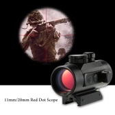 1X40 Hunting Tactical Riflescopes Holographic Red Dot Rifle Scope Sight for 20mm Rail Red Dot Scope