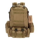 LIXADA Outdoor Multifunction Military Tactical Backpack with MOLLE Webbings Rucksack