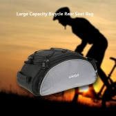 Lixada 13L Multifunctional Bicycle Rear Seat Bag Outdoor Cycling Bike Rack Seat Bag Rear Trunk Pannier Backseat Bag Handbag Shoulder Bag