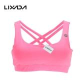 LIXADA 女子高衝撃フルカバー ワイヤー フリーはヨガ体操のスポーツのブラを実行します。