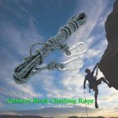 カラビナ付きDocooler 8ミリメートルの*の10メートル屋外の安全ロッククライミングロープコードケイビング懸垂下降アブセイリングレスキューサバイバルアクセサリコードのスリング