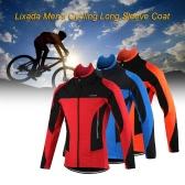 Lixadaメンズアウトドアサイクリングジャケットの冬の熱通気性の快適なロングスリーブのコート防水ライディングスポーツウェア