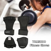 TOMSHOO Unisex Weightlifting Gloves with Wrist Wrap Hand Grip Pads Bundle Set for Men and Women 2-in-1 Fitness Bundle for Cross Training
