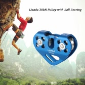 Lixada 30kN Zipline Cable Trolley Pulley with Ball Bearing Rock Climbing Caving Aloft Work Rescue