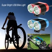 Super Bright USB Bike Light 2400 Lumens Powerful Double Lights Bicycle Cycling LED Safety Front Light Flashlight Waterproof