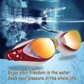 Adjustable Unisex Adult Electroplate Non Fogging Anti-UV Swimming Goggles Swim Glasses