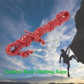Docooler 8mm * 10m Outdoor Safety Rock Climbing Rope Cord Caving Rappelling Abseiling Rescue Survival Accessory Cord Sling with Carabiners