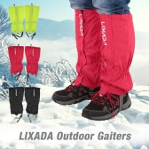 Lixada One Pair of Gaiters Outdoor Unisex Zippered Closure Wear and Water Resistant Cloth Gaiters Leggings Cover for Biking Snowboarding Hiking
