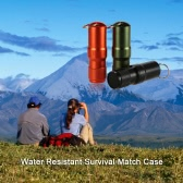 Every Day Carry Water Resistant Key Safe Matches Cap Survival Match Pill Case Can Carry Container Gear Aluminum Alloy