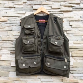 Men Outdoor Hiking Fishing Photography Director Camera Jacket Vest Waistcoat