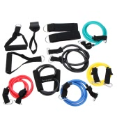 12Pcs Elastic Exercise Training Tubes Fitness Resistance Bands Set for Yoga Pilates