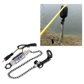 Iron Fishing Bite Alarm Chain Hanger Swinger LED Illuminated Indicator