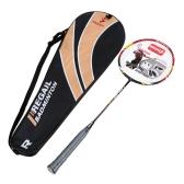 1PCS カーボンファイバー+アルミ合金 トレーニング バドミントン ラケットラケット  キャリーバッグ 軽量