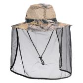 屋外太陽保護通気性帽子蚊防帽子フィッシング ハット