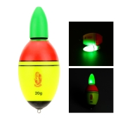 Fishing Float EVA Electronic Light Bobber with 2 Button Cells Fishing Tackle