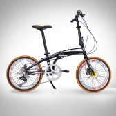 RT-20 Mini 20in Folding Bike Bicycle SHIMAN0 7 Gears Portable City Sports Bike Mechanical Brakes
