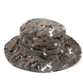 迷彩ワイドラウンドつばのある男性の帽子 アウトドア/釣り/キャンプ/ハイキングのために適用 日キャップ
