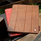 Real Leather Magnetic Smart Cover Protective Case Stand for iPad 4 3 2 Wake-up Sleep Vintage Brown
