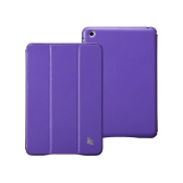 Leatherette Magnetic Smart Cover Protective Case Stand for iPad mini Wake-up Sleep Ultrathin Purple