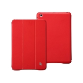 Leatherette Magnetic Smart Cover Protective Case Stand for iPad mini Wake-up Sleep Ultrathin Red