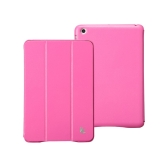 Leatherette Magnetic Smart Cover Protective Case Stand for iPad mini Wake-up Sleep Ultrathin Rose