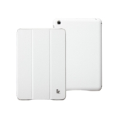 Leatherette Magnetic Smart Cover Protective Case Stand for iPad mini Wake-up Sleep Ultrathin White