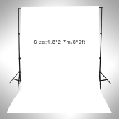 1.8 * 2.7m / 6 * 9ft Photography Screen Backdrop Muslin Cotton Video Photo Lighting Studio Background Black