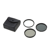 58mm UV+CPL+ND4 Filter 3 Pieces Kit with Case for Canon Nikon Sony DSLR Camera