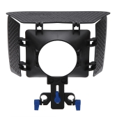 Matte Box Sunshade for 15mm Rail Rod Support DSLR 5DII 60D D90 550D 600D