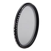 Andoer 77mm ND Fader Neutral Density Adjustable ND2 to ND400 Variable Filter for Canon Nikon DSLR Camera