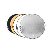 """43""""110 cm Handheld Multi Collapsible Portable Disc Light Reflector for Photography 5in1"""