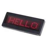 Programmable Red LED Scrolling Name Badge Sign Business Card Tag Moving Message Display