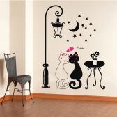 Cute Couples Cats Cartoon Wall Sticker Kids Children