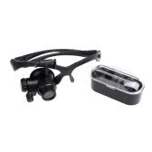 Eyewear Single Eye Magnifier Magnifying Glass Loupe with Headband LED 10x 15x 20x 25x