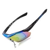 UV400  偏光 サングラス メガネ  ゴーグル 取り外し可能な 5レンズ   自転車  乗馬  オープンエアスポーツ 防風 対応 耐久性抜群