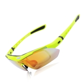 UV400 Polarized Sunglasses Safety Eyewear Goggle for Bicycle Riding Open-air Activities Detachable Universal 5 Lens Green