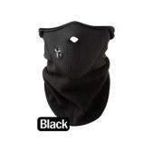 Bicyle Cycling Motorcycle Winter Sports Ski Snowboard Hood Wind Stopper Face Mask Headwear Thermal Fleece Black