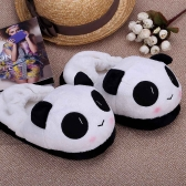Indoor Novelty Slipper for Lovers Winter Warm Slippers Lovely Cartoon Panda Face Soft Plush Household Thermal Shoes 26cm / 10.24in