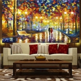 DIY Handmade Diamond Painting Set Night Scene Resin Rhinestone Pasted Cross Stitch for Home Decoration 30 * 50cm