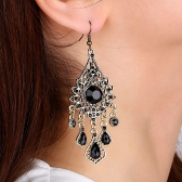 Bohemia Water Droplets Tassel Earrings National Sytle  Charm Hanging Earrings