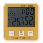 Large LCD Temperature Humidity Meter Thermometer Hygrometer Clock Time